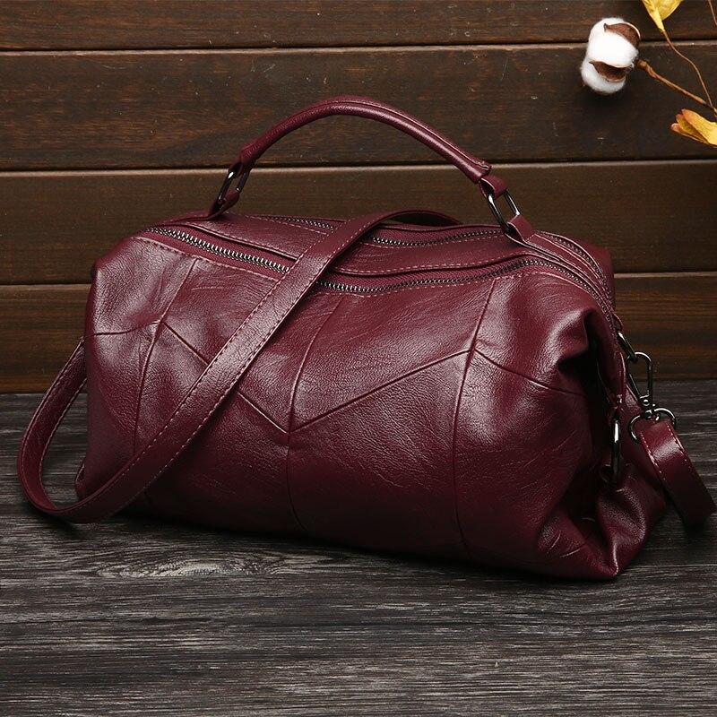 pink Modo Elaborazione Stitching Cuoio Spalla Red black Bag Borsa Sac Rosso Vintage gold Casuale Del Delle Donne Dell'unità Alta Sacchetto Qualità Rappezzatura Originale Di Della Crossbody gPUqnx5