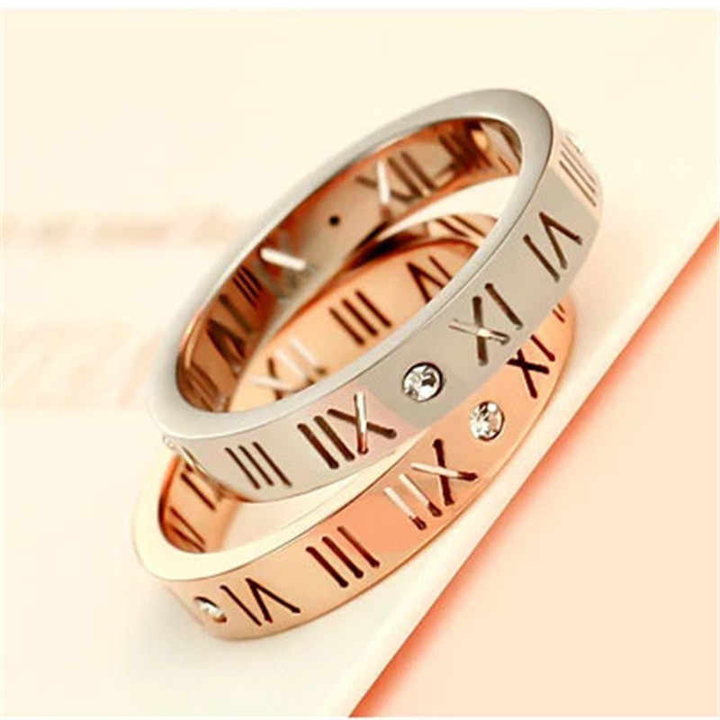 CC Paar Ringen-Voor-Vrouwen Rome Digitale Zilveren Ring Liefhebbers Sieraden Bridal Wedding Engagement Ringen Mode Bijoux Femme CC584