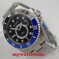 43 мм черный циферблат с керамическим ободком GMT сапфировое стекло автоматические мужские часы