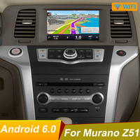 Quad core android 6.0 Car Dvd Player For NISSAN Murano Z51 GPS Navigation Stereo BT AUX