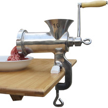 Mini household manual stainless steel meat mincer meat grinder 10# ZF