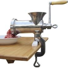 Mini manual de hogares picadora de carne picadora de carne de acero inoxidable 10 # ZF