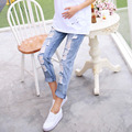 2016 летние стили джинсы материнства брюки беременности брюки одежда для беременных беременность одежда мода джинсы для беремен