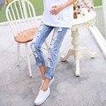 2016 estilos de verano pantalones vaqueros de maternidad pantalones pantalones de ropa de maternidad embarazo embarazo ropa de mezclilla de moda para embarazos