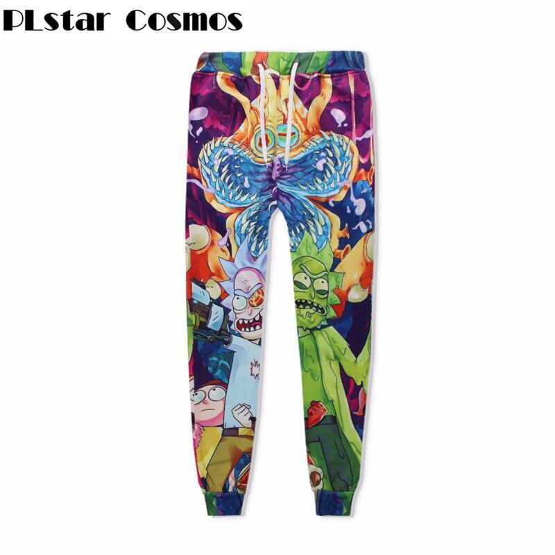 Plstar Cosmos Moda hombre-Eater flor unisesx basculador Pantalones 3D impresión Rick y Morty dibujos animados Pantalones de chándal Hip Hop pantalones