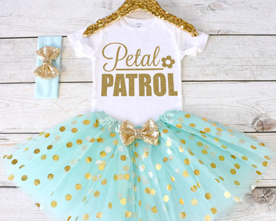 2ccacc6cbfb customize flower girl Rehearsal Dinner Petal Patrol bodysuit onepiece cake  mesh tutu romper Outfit Set baby shower party favors -in Party Favors from  Home ...