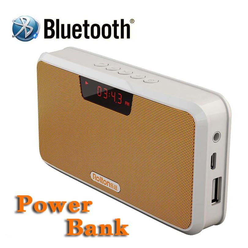 Rolton E300 Bluetooth רמקול אלחוטי תמיכת רמקול נייד רב תפקודי דיבורית שיחת טלפון עם בנק של כוח, רדיו FM
