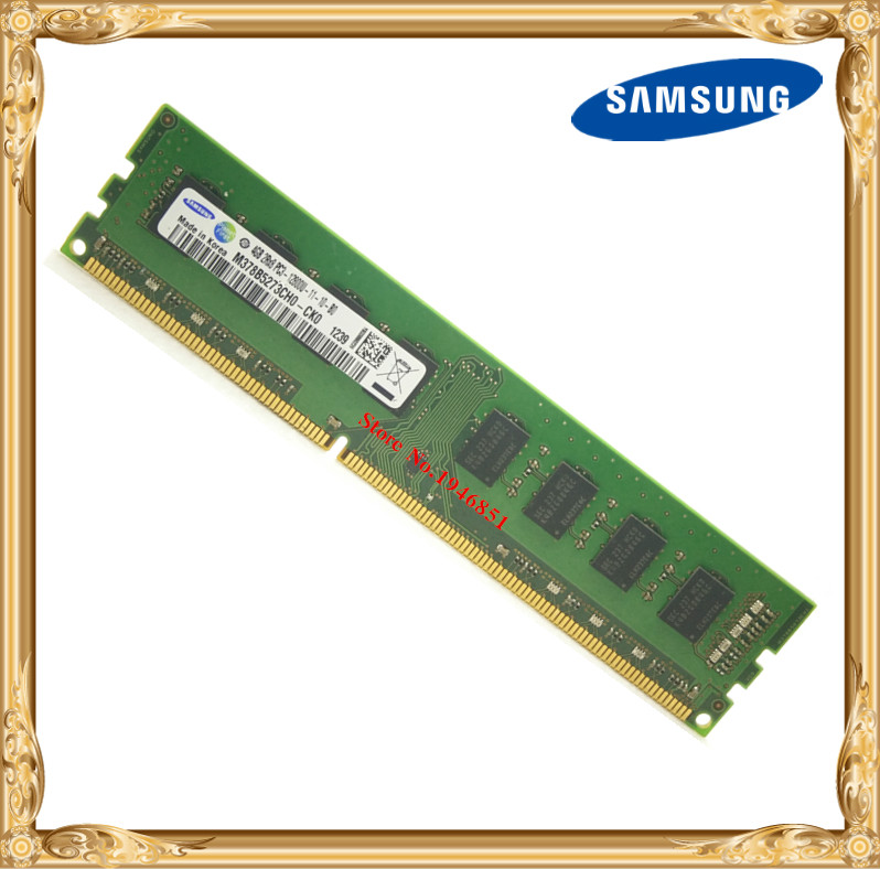 Samsung Desktop memory original DDR3 4GB 1600MHz 4G PC3-12800U PC RAM 1600 12800 samsung laptop memory ddr3 4gb 1333mhz pc3 10600s notebook ram 10600 4g