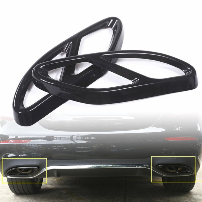 2pcs Car Rear Exhaust Muffler Cover Trim Replace For Mercedes-Benz CLA C117 2016-2019 Exhaust Muffler Cover
