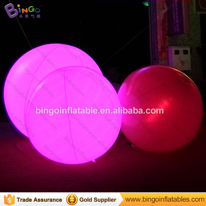 Air sealed 1.5 Meters dia LED lighting inflatable ball color change white color blow up balloon for party light-up toy ao058b 2m white pvc helium balioon inflatable sphere sky balloon for sale attractive inflatable funny helium printing air ball