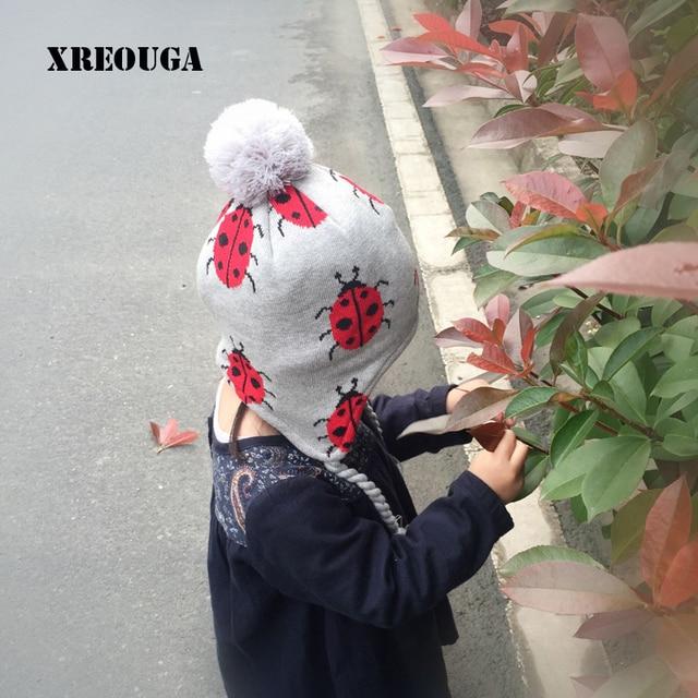 Bebé Mariquita de Impresión Caliente Del Invierno Sombrero A Cuadros ...