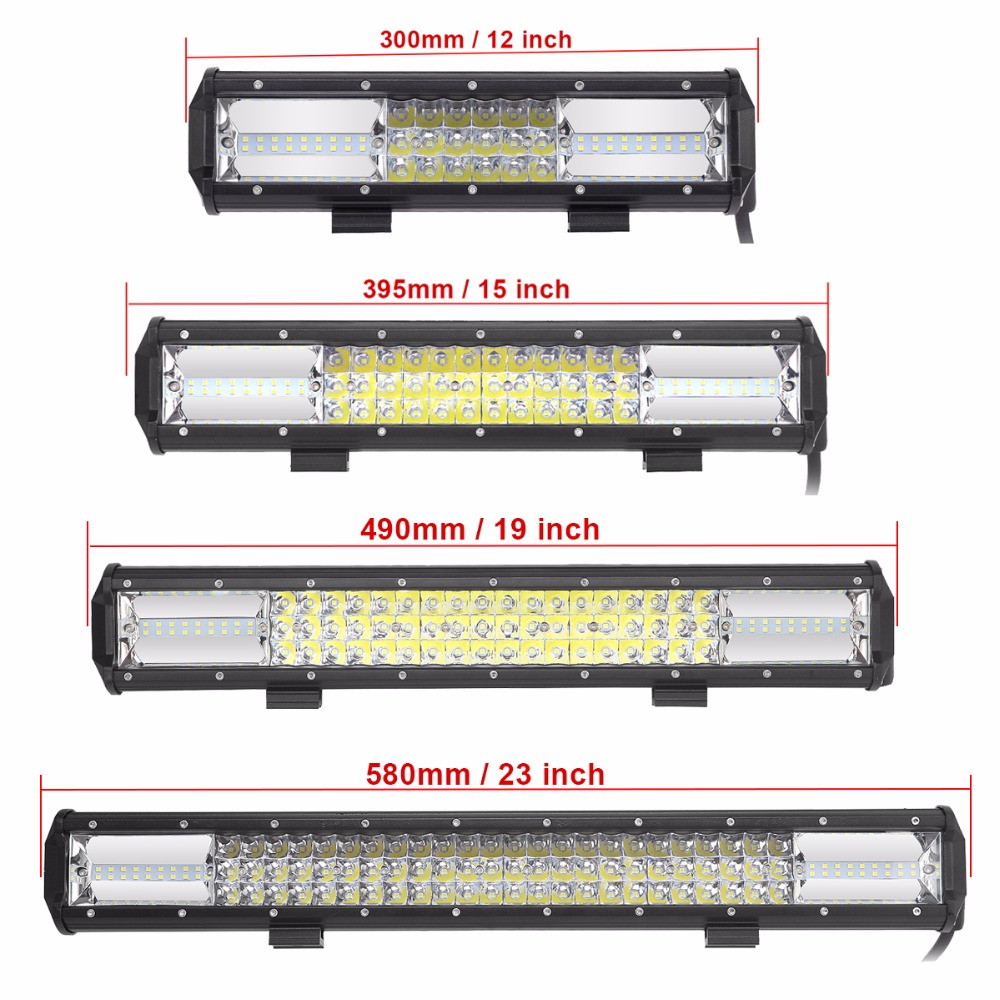 12 15 20 23 Inch LED Light Bar Offroad Combo Car SUV 4X4 4WD LED Work Light Bar Truck Wagon Pickup Camper Trailer 12V 24V Lamp