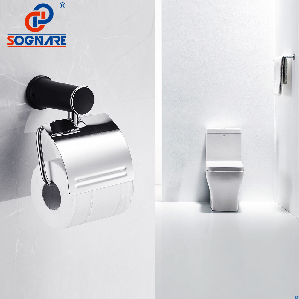 Sanitary Paper Toilet Paper Holder Black Paper Towel Holder Toilet Tissue Wall Toilet Paper Roll Dispenser Bathroom Accessories