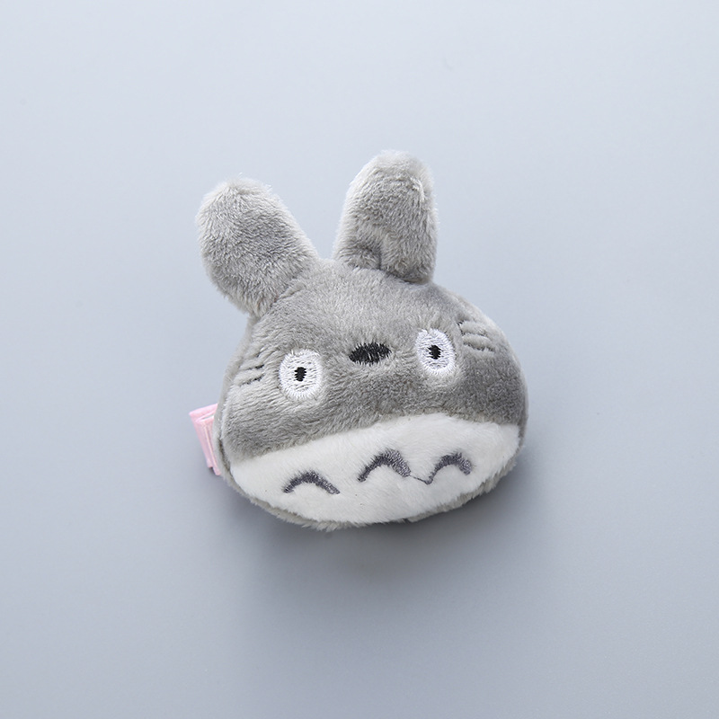 1 PCS  Three-Dimensional Short Plush Totoro Hairpins Children Headdress Girls Hair Clips Headwear Baby Hair Accessories face recognition using three dimensional and multimodal images
