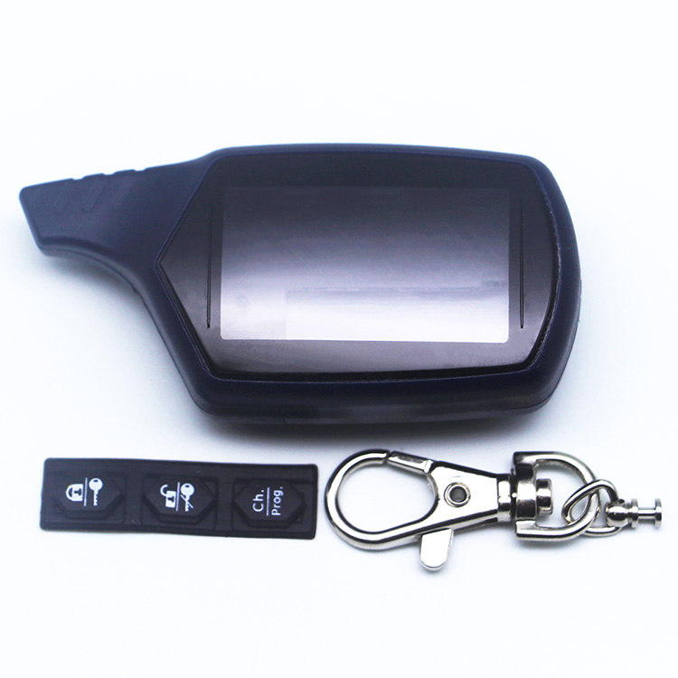 Free shipping New B9 Case keychain for russian version starline B9 B6 A91 A61 LCD two way car remote/FM transmitter