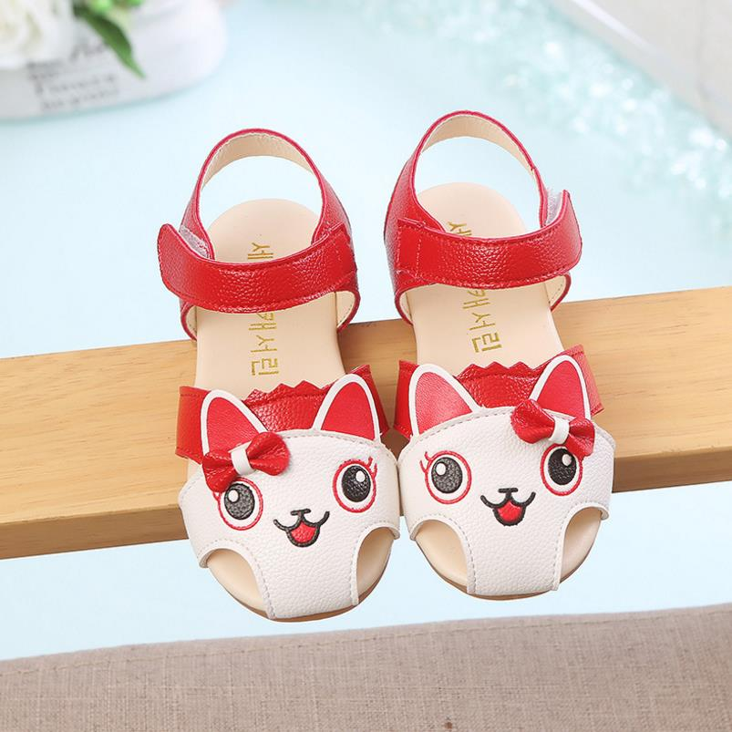HaoChengJiaDe Summer School Children Infant Kids Girls Cartoon Print Sandals Princess Casual Shoe Childrens Shoes Drop Shipping