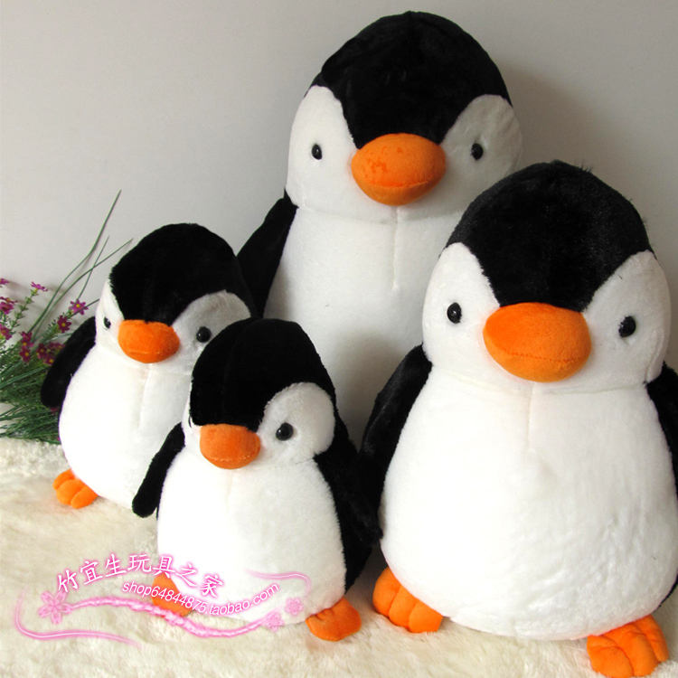 Plush Toy Penguin Baby Doll Large Gift Birthday Female Doll Cloth