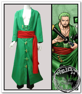 2016 Anime One Piece Roronoa Zoro Cosplay Costumes Halloween Costume for Men Full Set Any Size for Party