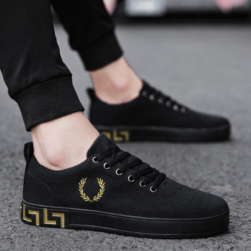 Brand Men Shoes Casual Black Shoes Men Spring Autumn Lace Up Men Tenis Fashion shoes hjm89 fashion men s lace up straight legs cropped jeans