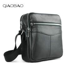 QIAOBAO мужские сумки из яловой кожи горячая Распродажа Мужская маленькая сумка-мессенджер Мужская модная сумка через плечо мужская дорожная новая сумка