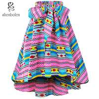 Shenbolen African Clothes For Women ankara clothing Fashion Skirt Traditional african clothes Print Casual Skirt Plus Size