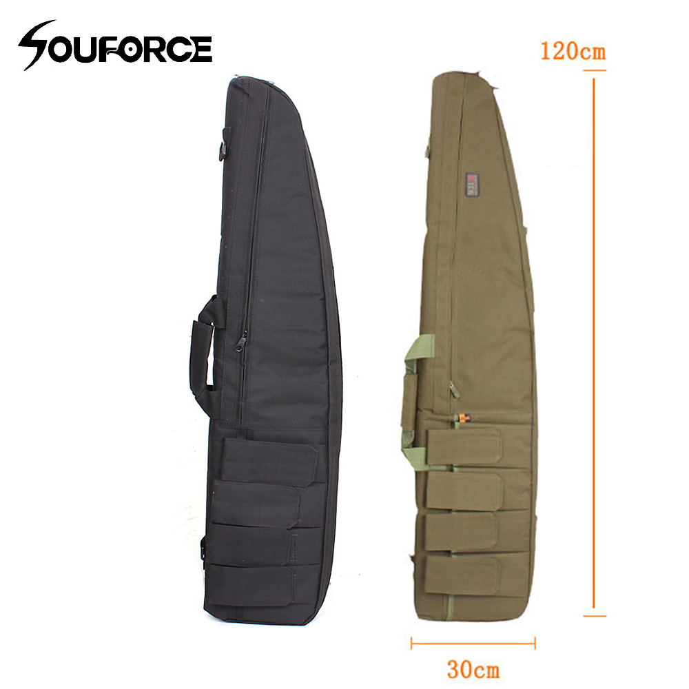 4 Color 120cm Tactical Gun Slip Bevel Rifle Bag Hunting Airsoft Gear Backpack Carrying Bags Rifle Case Shoulder Mag Pouch Bag blk tree leaf sand hunting tactical rifle gun bag 1000d oxford fabric airsoft gun case shoulder bag heavy duty gun carrying bag