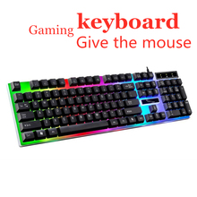 цена на Gaming Keyboard Backlit Mechanical Feeling USB 104 Keycaps USB Wired Professional Gaming Keyboard for PC Desktop Laptop Computer