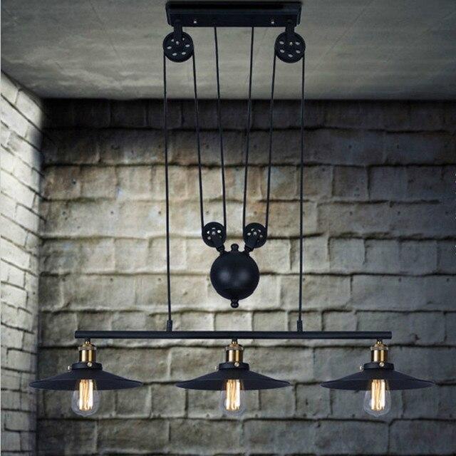 3 kopf Vintage Eisen RH Loft Industrielle LED Amerikanischen Land ...