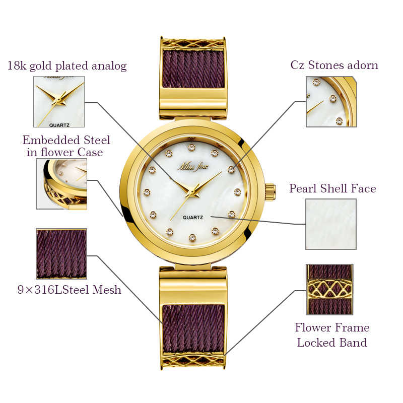 Missfox vestido relógios de pulso para marcas femininas genebra senhoras relógios pulseira de aço inoxidável feminina moda feminina relógio de ouro