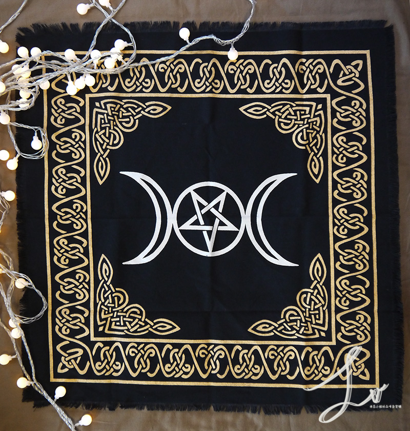 cartões toalha de mesa algodão wicca astrologia