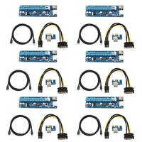Mini PCI E to PCI Express Extender Riser Card PCIE 1x to 16x Slot USB3.0 Data Cable SATA to 6Pin Power Supply for Bitcoin Mining