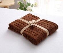 CAMMITEVER 100% хлопок Теплые мягкие флисовые одеяла толстый плюшевый плед для дивана кровати самолета пледы однотонные покрывала домашний текстиль