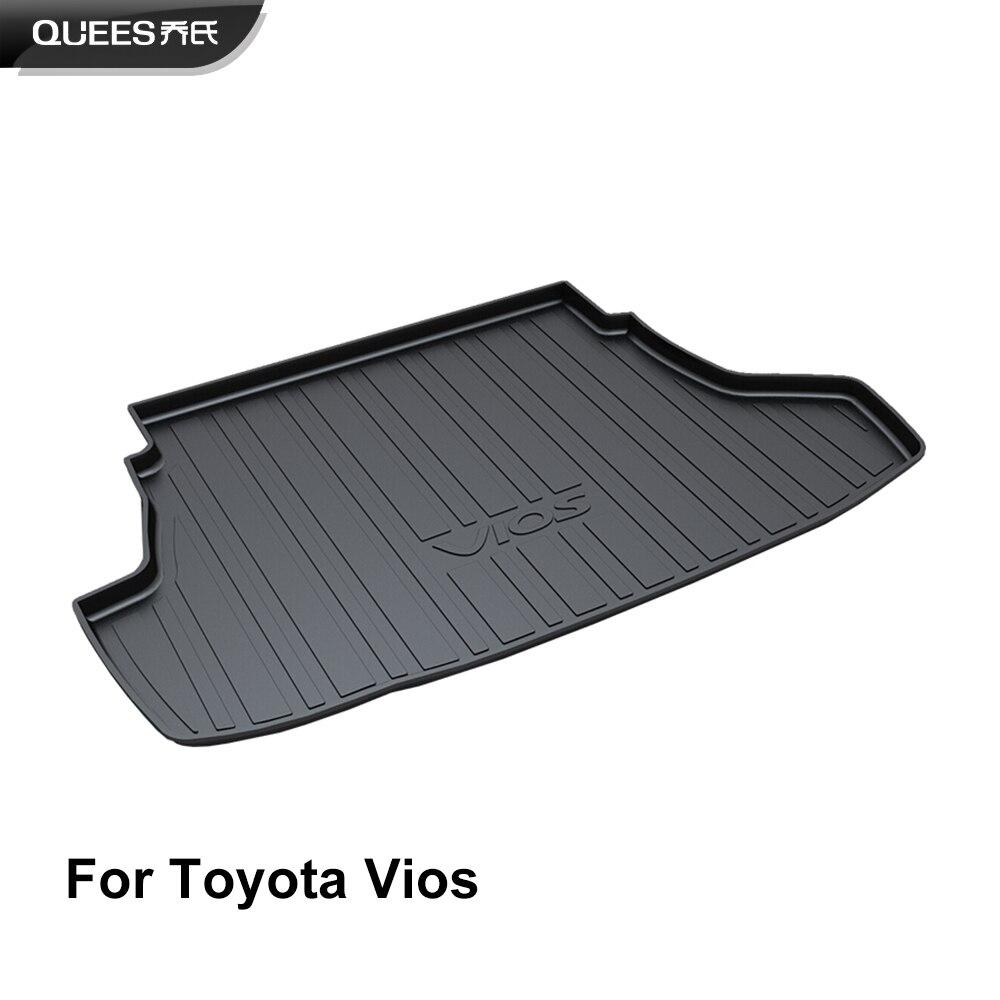 QUEES Custom Fit Cargo Liner Carpet Mat for Toyota Vios XP150 2014 2015 2016 2017