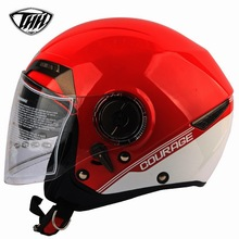 Nueva llegada de media cubierta de marsella iron man casco de doble lente de la motocicleta casco personalizado certificación dot casco casque moto