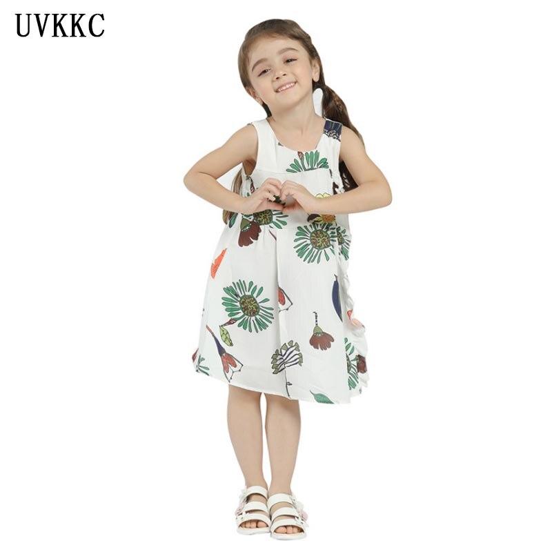 2018 New arrival White Baby girl party dress summer Flower girl dresses for weddings Girl Clothes Bebe Roupas Children clothing