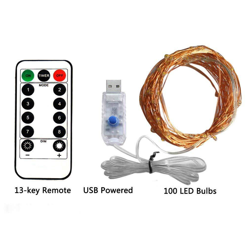 5M 10M USB Fairy String Lights Micro Rice Wire Party Xmas Lamp Garland Fairy Light For Christmas Tree Wedding Party Decoration