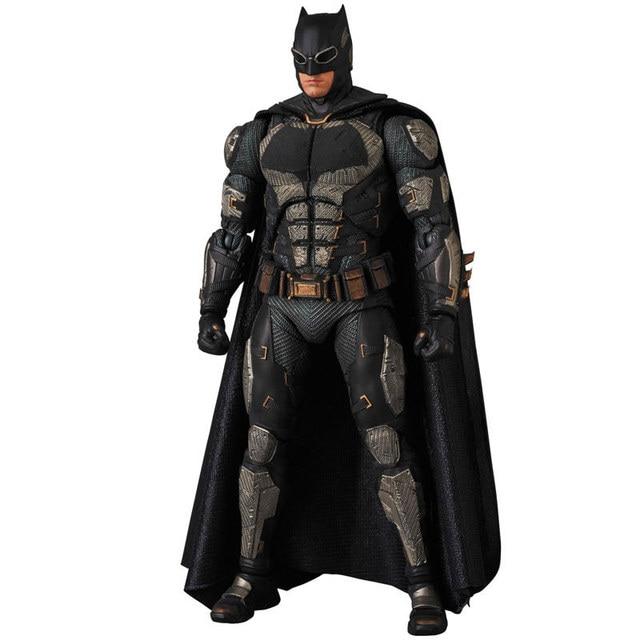 Os Vingadores Filme de Super-heróis Da Liga Da Justiça Batman terno Tático Ver PVC Action Figure Collectible Modelo Toy Box-Embalado 16 cm