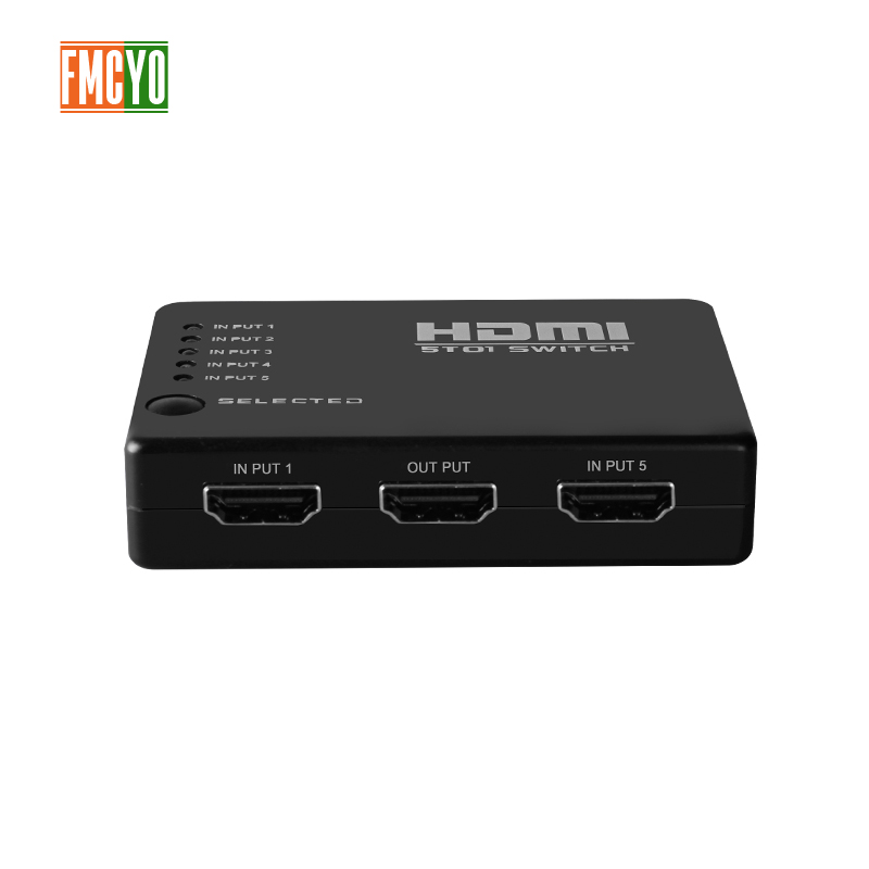 KVM Switch 6 Port 5 Input 1 Output Wireless Remote HDMI Switcher Video Monitor 1080p HDMI Switcher