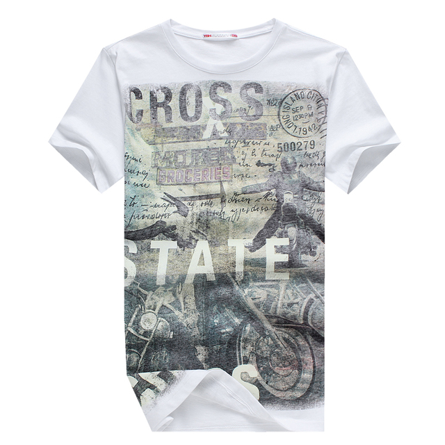 E-BAIHUI  Summer Men Cotton Clothing Dsq  T-shirtS Camisetas t shirt Fitness tops TeeS Skateboard Moleton mens t-shirts  Y032