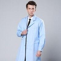 Biały fartuch ubrania z długimi rękawami mężczyzn i kobiet lekarzy pielęgniarki garnitur eksperymentalne ubrania gruby biały płaszcz