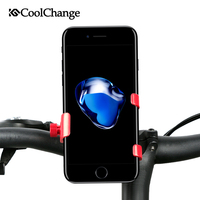 CoolChange Universal Bike Phone Stand 360 Rotating Bicycle Handlebar Mount Holder For iPhone Sony Cellphone Cycling Accessories