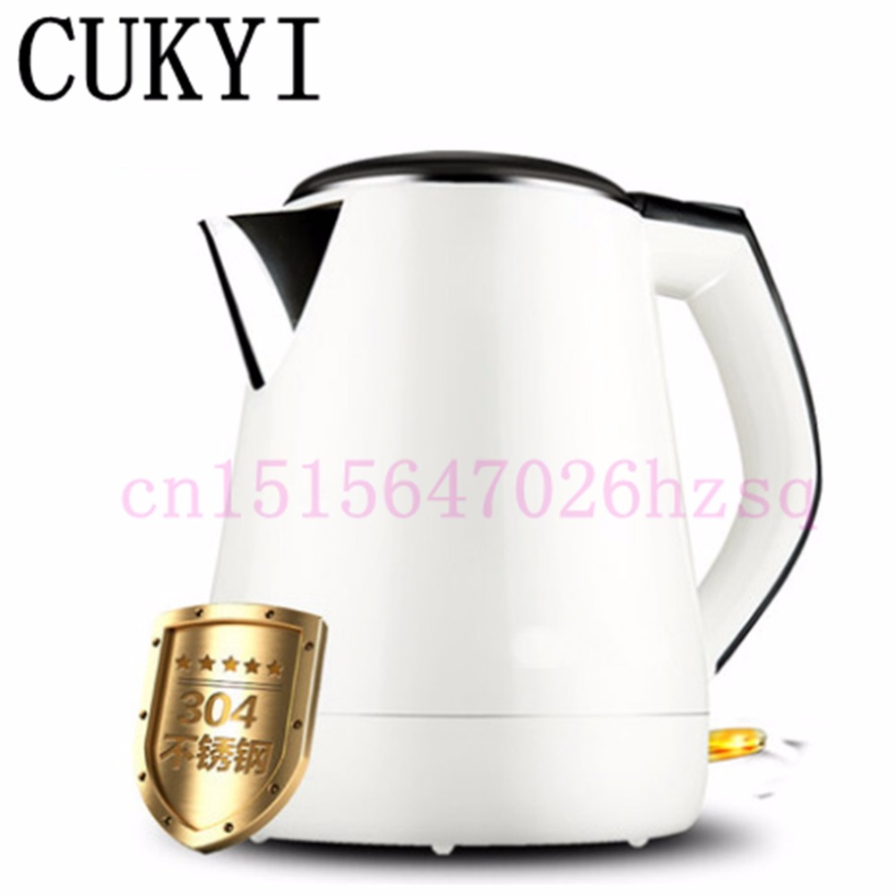 CUKYI 1.3L Electric kettle 304 stainless steel thermal insulation automatic power-off kettle electric kettle boiling pot 304 stainless steel home insulation 1 5l