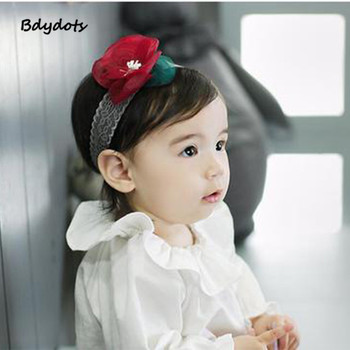 Infant Girls Headband Head Wraps Elastic Bands Grosgrain Ribbon Hair Bows Tiara Baby Headbands Hair Accessories Hot Sale