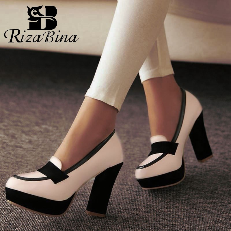 RIZABINA women stiletto high heel shoes sexy lady platform spring fashion heeled pumps heels shoes P13025 EUR size 34-43RIZABINA women stiletto high heel shoes sexy lady platform spring fashion heeled pumps heels shoes P13025 EUR size 34-43