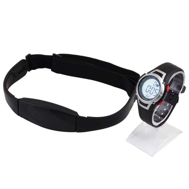 1Pcs 2017 Heart Rate Monitor Sport Fitness Watch Favor Outdoor Cycling Sport Waterproof Wireless With Chest Strap New Arrivals