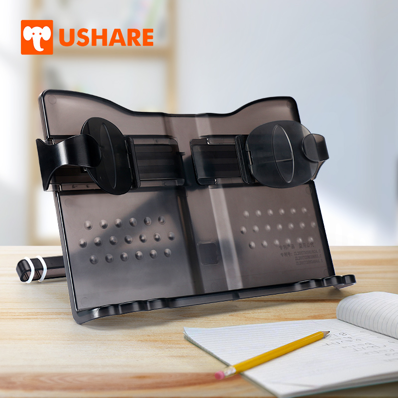 USHARE libro soporte ajustable de música portátil y multifuncional de plástico libro para leer suministros de oficina