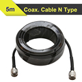 5 meters RG6 Low Loss Coaxial Cable 50ohm N Male to N Male Connector Communication Coax Cable For Mobile Phone Signal Booster