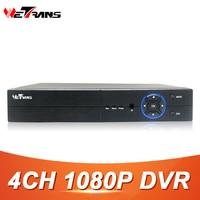 Wetrans 4CH 1080 P Full HD DVR CCTV Hybride HDMI VGA Sortie SATA HDD 4CH Audio P2P H.264 de Sécurité AHD Numérique Vidéo DVR enregistreur