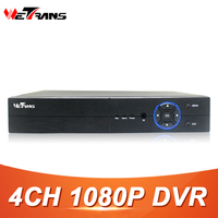 Wetrans 4CH 1080P Full HD DVR CCTV Hybrid HDMI VGA Output SATA HDD 4CH Audio P2P