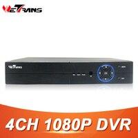 Wetrans 4CH 1080P Full HD DVR CCTV Hybrid HDMI VGA Output SATA HDD 4CH Audio P2P